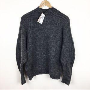 NWT Philosophy Sweater Gray Mock Turtleneck Size L